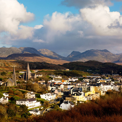 Cycling holiday visit to Clifden town in Connemara