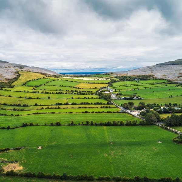 Cycling holiday view in ireland